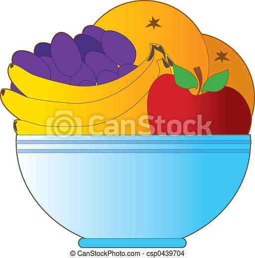 Fruit Bowl Line Drawing Fruit Bowl Csp0439704