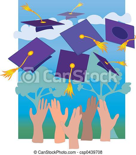 Graduation Hats - csp0439708