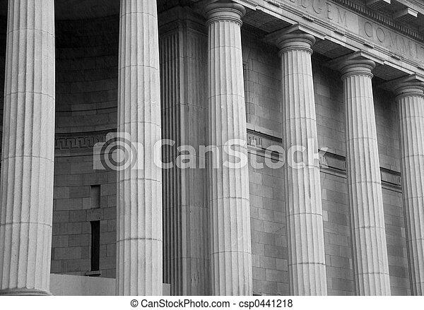 Courthouse Pillars - csp0441218