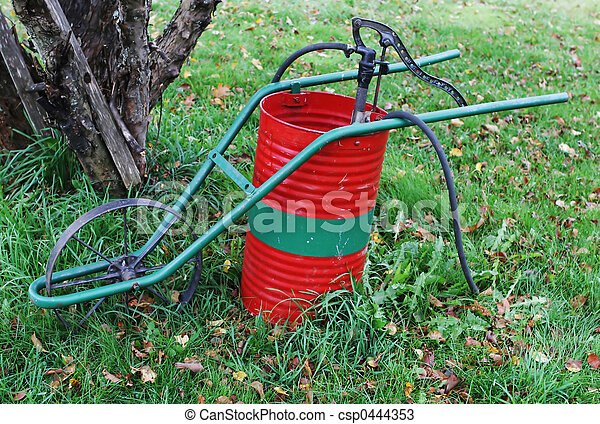 Old-fashioned weed sprayer - csp0444353