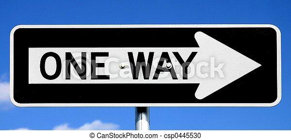 一方通行の印 - csp0445530