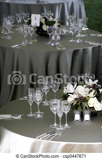 Table setting for a banquet or event - csp0447671