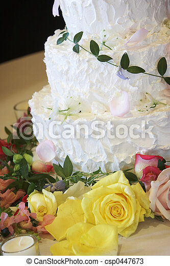 Wedding cake - sweet dessert - csp0447673