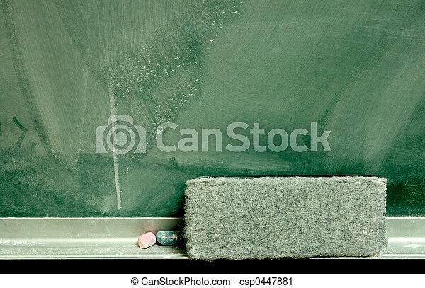 Chalkboard & Eraser - csp0447881