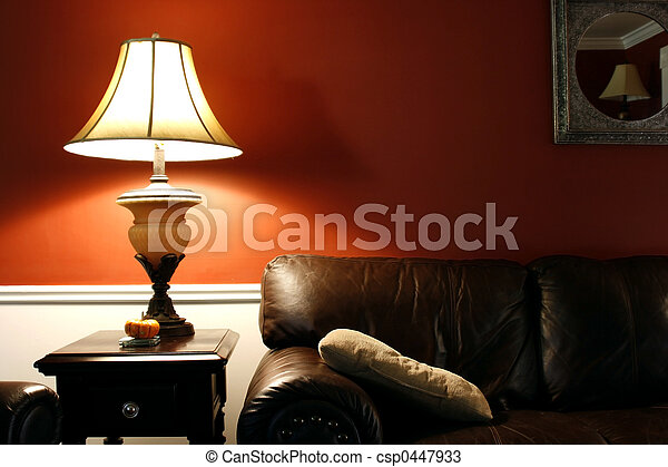 Lamp and the Couch - csp0447933