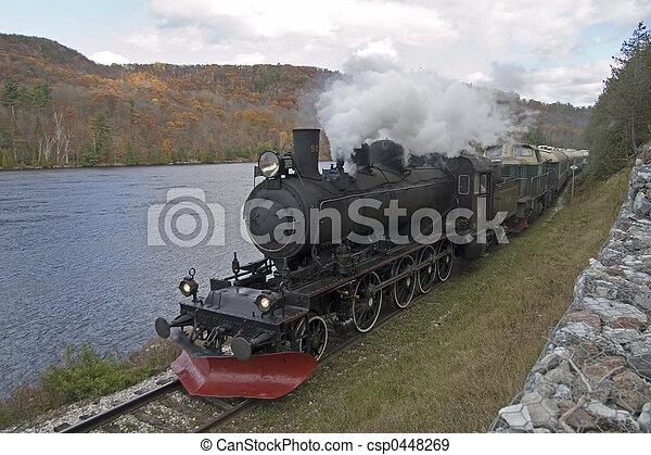 train, vapeur - csp0448269