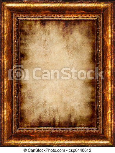 Burnt Antique Framed Parchment - csp0448612