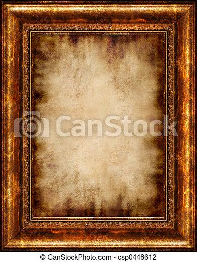 Burnt Antique Framed Parchment - csp0448612