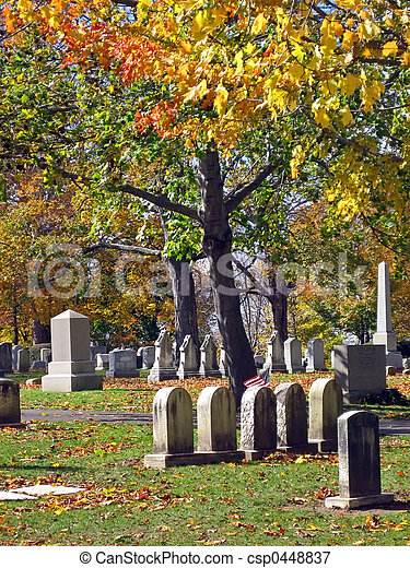 Cemetery in Autumn 16 - csp0448837