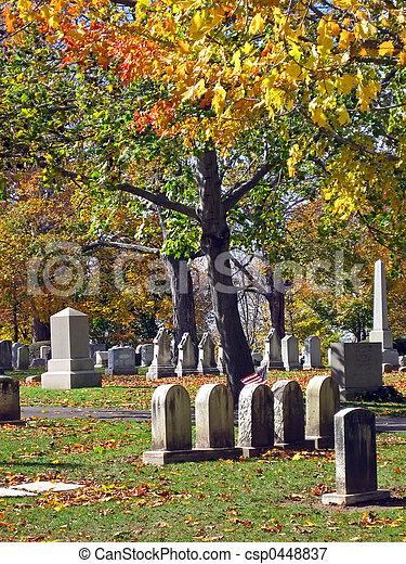 Cemetery in Autumn 16 - csp0448837