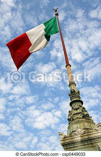 Flag of Italy - csp0449033