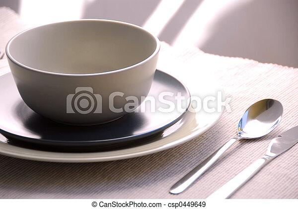 晚餐, 确定, 地方 - csp0449649