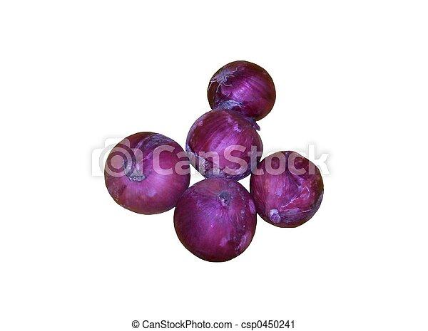 fresh onions on white background - csp0450241