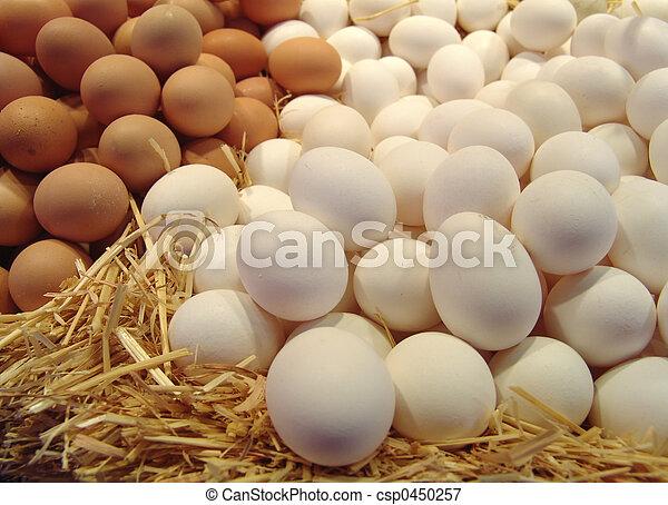 eggs on straw