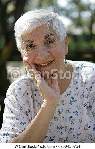 Senior Lady Relaxes - csp0450754