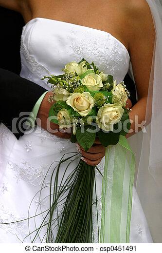 bukett, bröllop - csp0451491