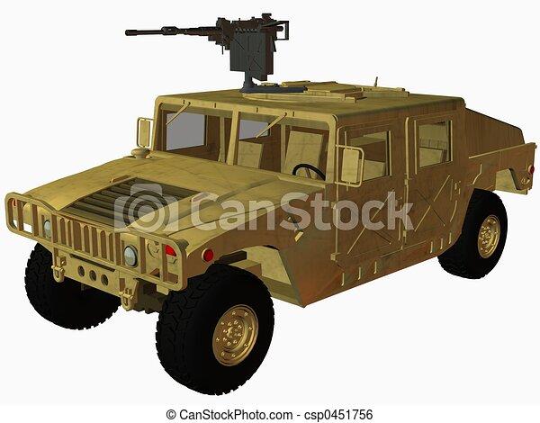 Stock Illustration Of Hummer Desert 3d Render Csp0451756