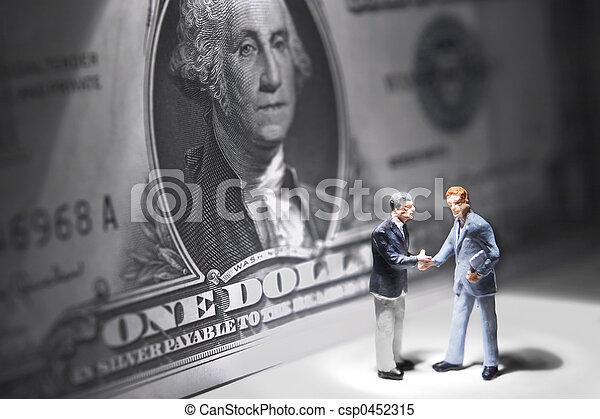 Wealthy businessmen - csp0452315
