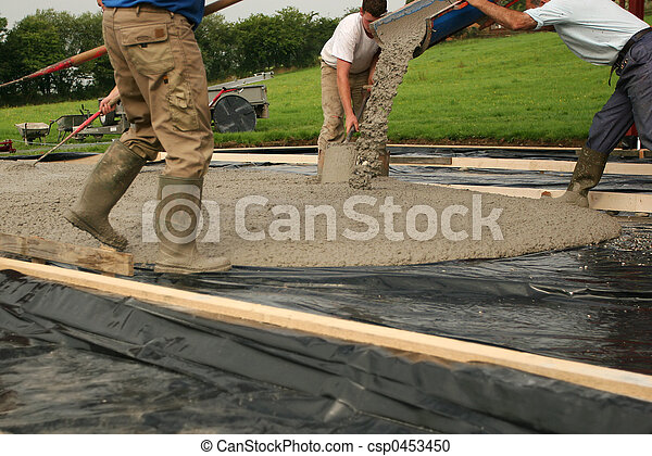 Laying Concrete - csp0453450