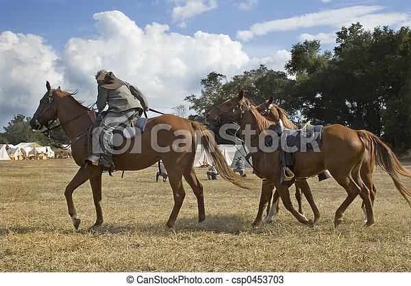 Cavalry Dismounts - csp0453703