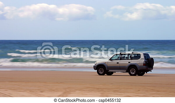 Driving on the beach - csp0455132