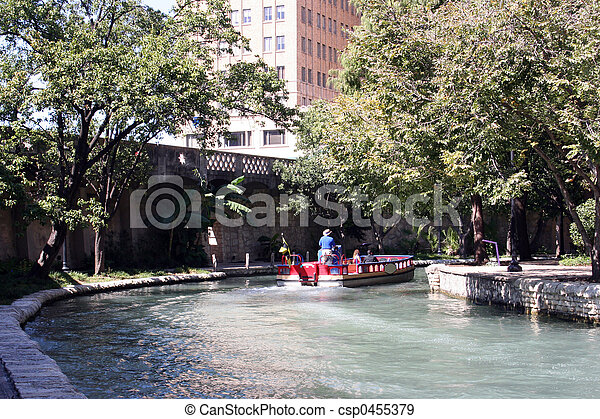 Riverwalk in San Antonio, Texas - csp0455379