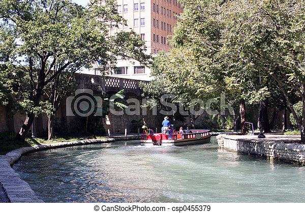 Riverwalk in San Antonio, Texas - csp0455379