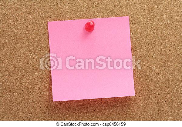corkboard and notepaper - csp0456159
