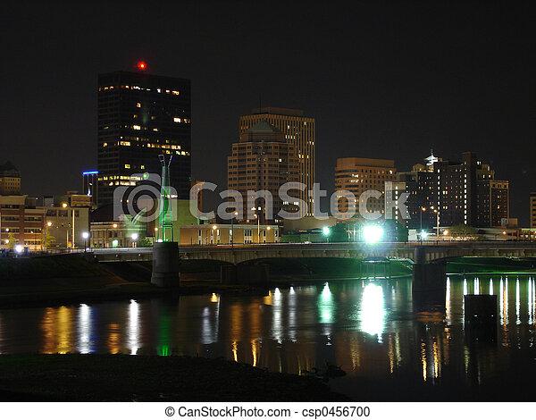 Dayton Night Skyline - csp0456700