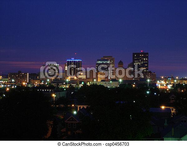 Dayton Skyline Night - csp0456703