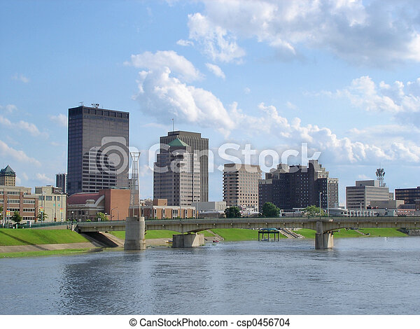 Dayton Skyline - csp0456704