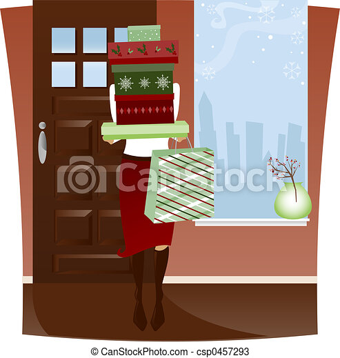 Home from Holiday Shopping - csp0457293