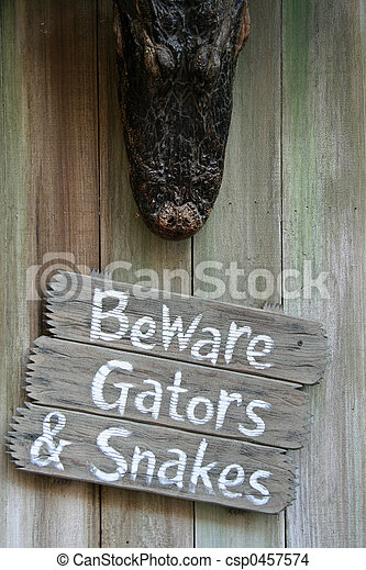 Beware of Gators and Snakes - csp0457574