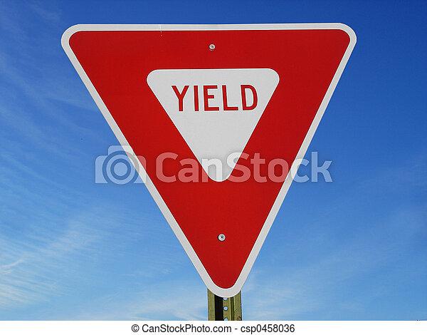 Yield Sign - csp0458036