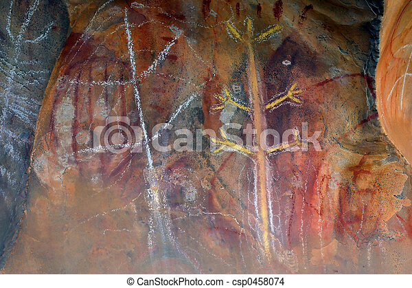 原始, 藝術, 岩石 - csp0458074
