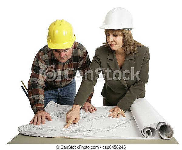 Engineer Explaining The Job - csp0458245