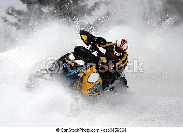 snowmobile, cold, ride,
