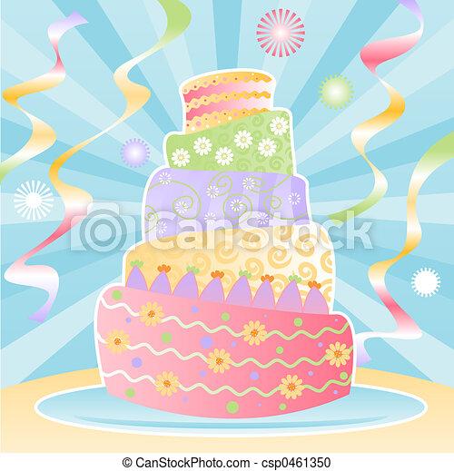 Ultimate Birthday Cake - csp0461350