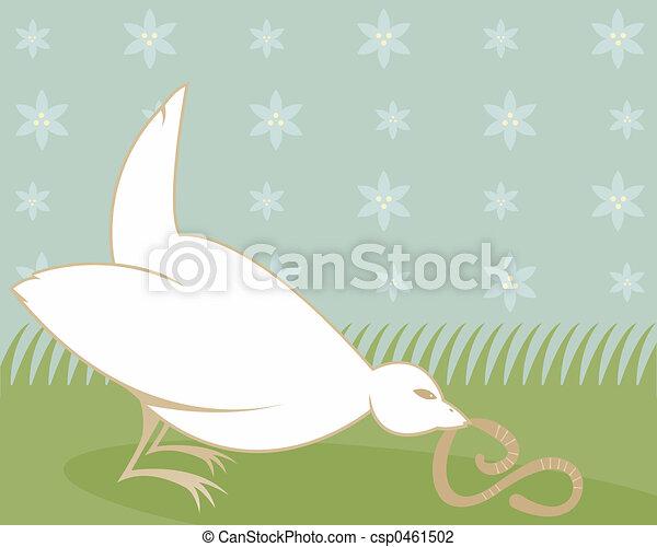 Early Bird Eats Worm - csp0461502