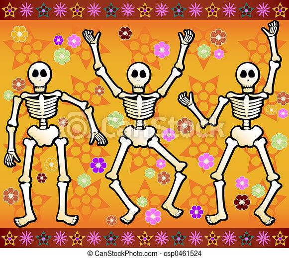 Festive Skeletons - csp0461524
