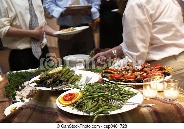 dinner being served at a wedding - csp0461728