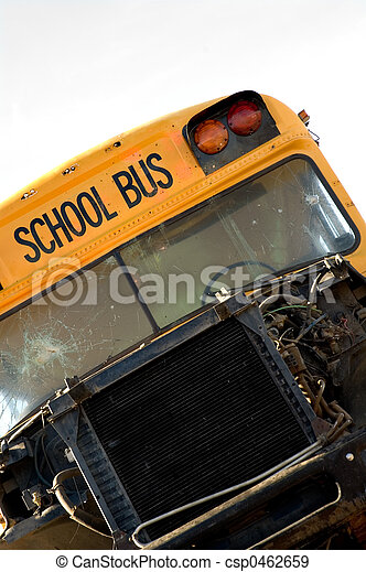 Wrecked School Bus - csp0462659