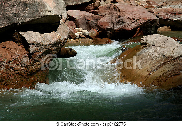 Narrows River at Zion Canyon - csp0462775