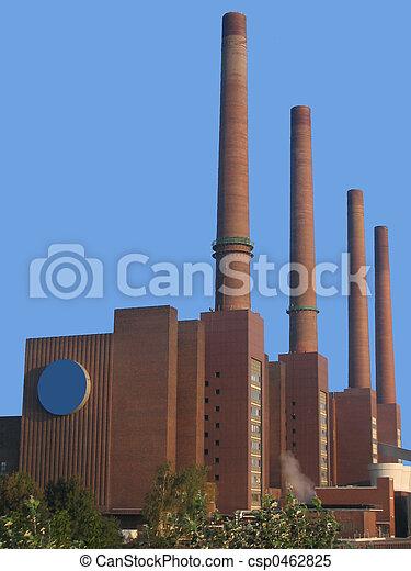 Stock im genes de f brica chimenea f brica con alto for Fabrica de chimeneas