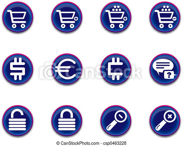 ecommerce icons - set 1 - csp0463228