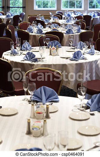 Wedding or restaurant tables - csp0464091
