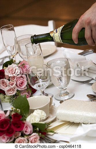 boda, alimento, Bebida - csp0464118