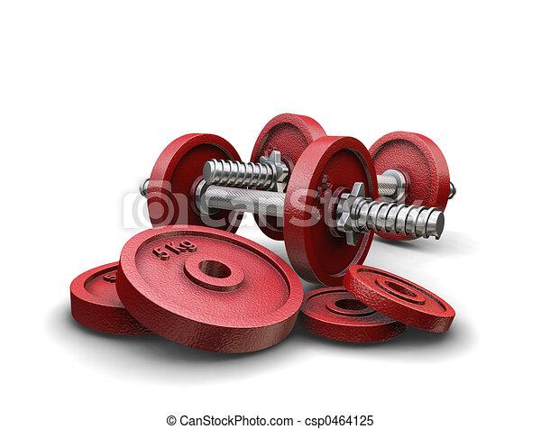 Weightlifting weights - csp0464125