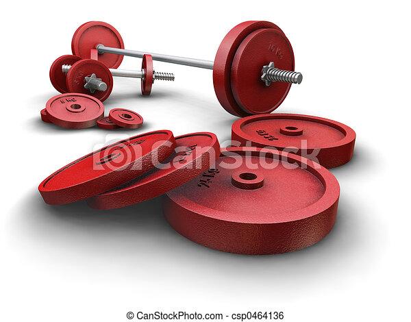 Weightlifting weights - csp0464136