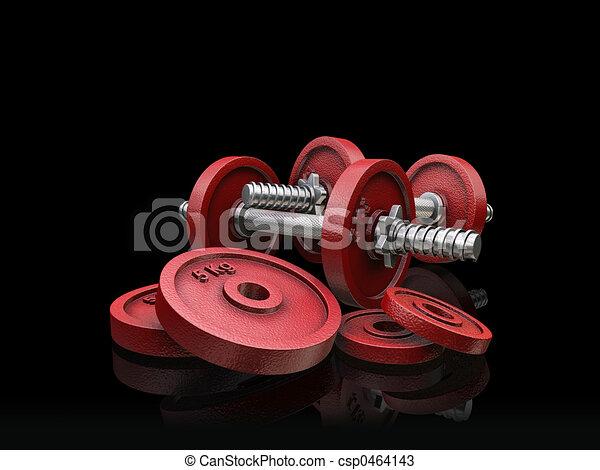 Weightlifting weights - csp0464143